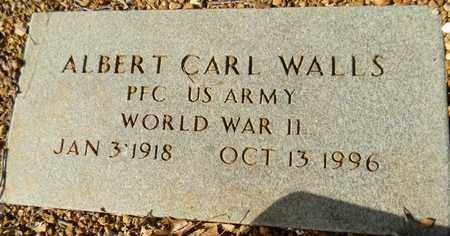 WALLS (VETERAN WWII), ALBERT CARL - Madison County, Alabama   ALBERT CARL WALLS (VETERAN WWII) - Alabama Gravestone Photos