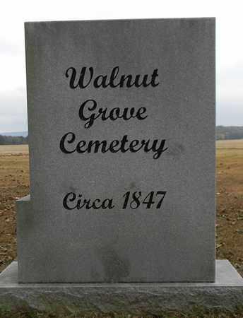 *WALNUT GROVE CEMETERY SIGN,  - Madison County, Alabama |  *WALNUT GROVE CEMETERY SIGN - Alabama Gravestone Photos