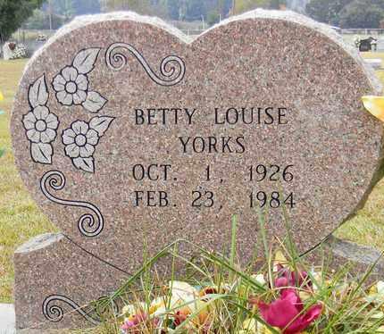 YORKS, BETTY LOUISE - Madison County, Alabama | BETTY LOUISE YORKS - Alabama Gravestone Photos