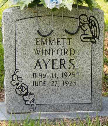 AYERS, EMMETT WINFORD - Marshall County, Alabama | EMMETT WINFORD AYERS - Alabama Gravestone Photos