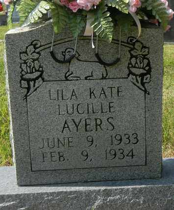 AYERS, LILA KATE LUCILLE - Marshall County, Alabama | LILA KATE LUCILLE AYERS - Alabama Gravestone Photos