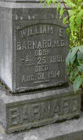 BARNARD, MD (CLOSEUP), WILLIAM E - Marshall County, Alabama | WILLIAM E BARNARD, MD (CLOSEUP) - Alabama Gravestone Photos