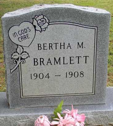 BRAMLETT, BERTHA M - Marshall County, Alabama   BERTHA M BRAMLETT - Alabama Gravestone Photos