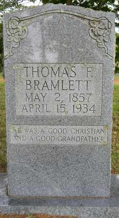 BRAMLETT, THOMAS F - Marshall County, Alabama | THOMAS F BRAMLETT - Alabama Gravestone Photos