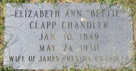 CLAPP CHANDLER, ELIZABETH ANN - Marshall County, Alabama | ELIZABETH ANN CLAPP CHANDLER - Alabama Gravestone Photos