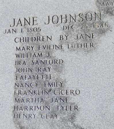 JOHNSON (CLOSEUP), JANE - Marshall County, Alabama | JANE JOHNSON (CLOSEUP) - Alabama Gravestone Photos