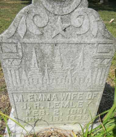 LEMLEY, M EMMA - Marshall County, Alabama | M EMMA LEMLEY - Alabama Gravestone Photos