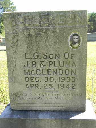 MCCLENDON, L G - Marshall County, Alabama | L G MCCLENDON - Alabama Gravestone Photos