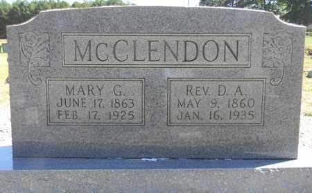 MCCLENDON, MARY G - Marshall County, Alabama   MARY G MCCLENDON - Alabama Gravestone Photos