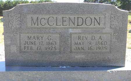 MCCLENDON, REV, D A - Marshall County, Alabama | D A MCCLENDON, REV - Alabama Gravestone Photos