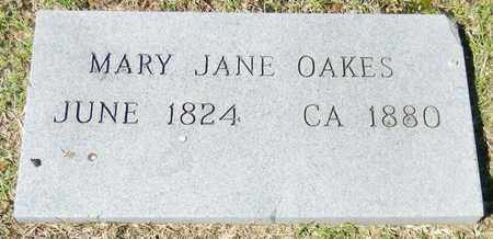 OAKES (OTHER), MARY JANE - Marshall County, Alabama | MARY JANE OAKES (OTHER) - Alabama Gravestone Photos