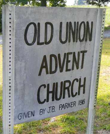 *OLD UNION CEMETERY SIGN,  - Marshall County, Alabama |  *OLD UNION CEMETERY SIGN - Alabama Gravestone Photos