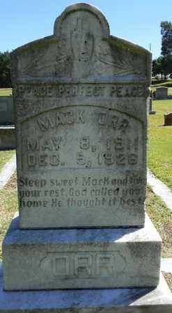 ORR, MACK - Marshall County, Alabama | MACK ORR - Alabama Gravestone Photos