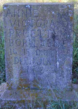 PRUETT, ANNIE VICTORA - Marshall County, Alabama | ANNIE VICTORA PRUETT - Alabama Gravestone Photos