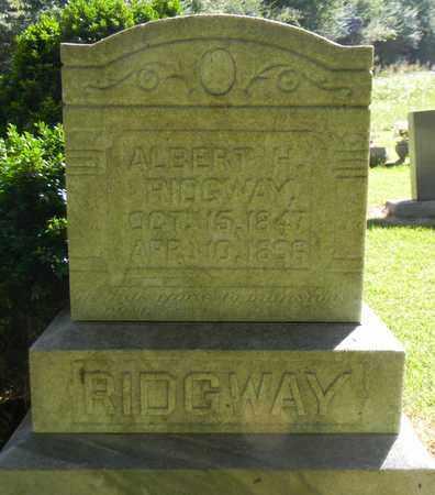 RIDGWAY, ALBERT H - Marshall County, Alabama | ALBERT H RIDGWAY - Alabama Gravestone Photos