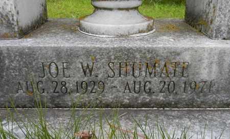 SHUMATE (CLOSEUP), JOE W - Marshall County, Alabama | JOE W SHUMATE (CLOSEUP) - Alabama Gravestone Photos