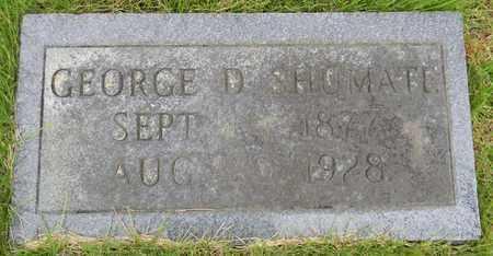 SHUMATE, GEORGE D - Marshall County, Alabama | GEORGE D SHUMATE - Alabama Gravestone Photos