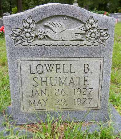 SHUMATE, LOWELL B - Marshall County, Alabama | LOWELL B SHUMATE - Alabama Gravestone Photos