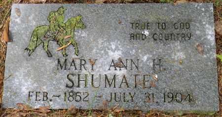 SHUMATE, MARY ANN H - Marshall County, Alabama | MARY ANN H SHUMATE - Alabama Gravestone Photos