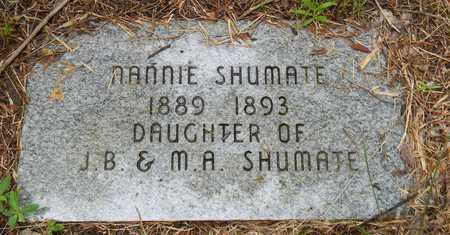 SHUMATE, NANNIE - Marshall County, Alabama | NANNIE SHUMATE - Alabama Gravestone Photos