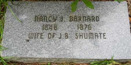 BARNARD SHUMATE, NANCY J - Marshall County, Alabama   NANCY J BARNARD SHUMATE - Alabama Gravestone Photos