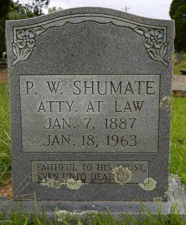 SHUMATE, P W - Marshall County, Alabama | P W SHUMATE - Alabama Gravestone Photos