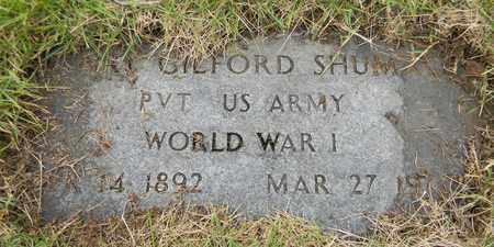 SHUMATE (VETERAN WWI), H GILFORD - Marshall County, Alabama | H GILFORD SHUMATE (VETERAN WWI) - Alabama Gravestone Photos