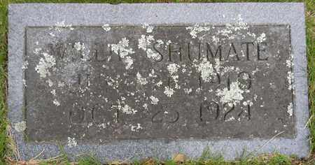 SHUMATE, WILLIE - Marshall County, Alabama | WILLIE SHUMATE - Alabama Gravestone Photos