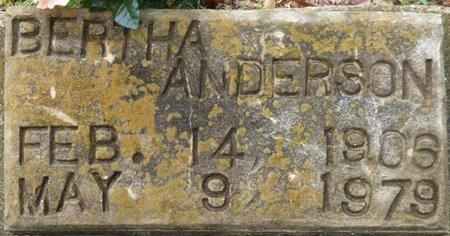 ANDERSON, BERTHA - Montgomery County, Alabama | BERTHA ANDERSON - Alabama Gravestone Photos