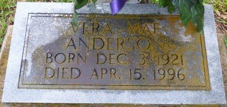 ANDERSON, VERA MAE - Montgomery County, Alabama | VERA MAE ANDERSON - Alabama Gravestone Photos