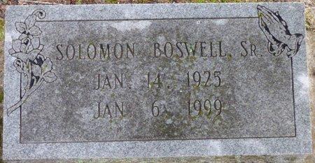 BOSWELL SR., SOLOMON - Montgomery County, Alabama   SOLOMON BOSWELL SR. - Alabama Gravestone Photos