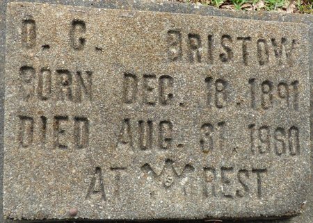 BRISTOW, D.C. - Montgomery County, Alabama | D.C. BRISTOW - Alabama Gravestone Photos