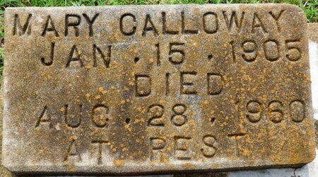 CALLOWAY, MARY - Montgomery County, Alabama | MARY CALLOWAY - Alabama Gravestone Photos