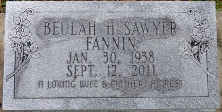 SAWYER FANNIN, BEULAH H - Montgomery County, Alabama   BEULAH H SAWYER FANNIN - Alabama Gravestone Photos