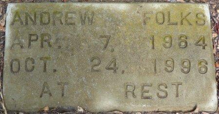 FOLKS, ANDREW - Montgomery County, Alabama | ANDREW FOLKS - Alabama Gravestone Photos