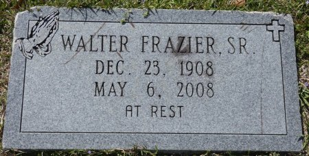 FRAZIER, SR, WALTER C - Montgomery County, Alabama   WALTER C FRAZIER, SR - Alabama Gravestone Photos