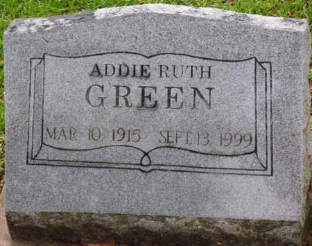 GREEN, ADDIE RUTH - Montgomery County, Alabama | ADDIE RUTH GREEN - Alabama Gravestone Photos
