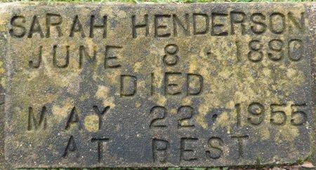 HENDERSON, SARAH - Montgomery County, Alabama | SARAH HENDERSON - Alabama Gravestone Photos