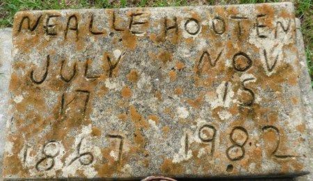 HOOTEN, NEALLE - Montgomery County, Alabama | NEALLE HOOTEN - Alabama Gravestone Photos
