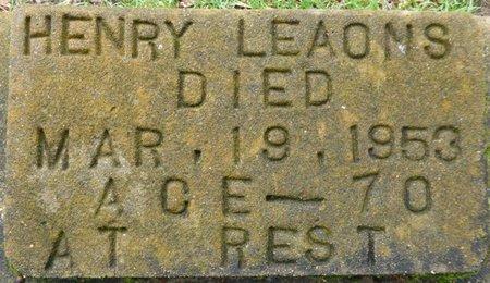 LEAOMS, HENRY - Montgomery County, Alabama   HENRY LEAOMS - Alabama Gravestone Photos