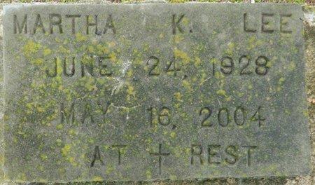 LEE, MARTHA K - Montgomery County, Alabama | MARTHA K LEE - Alabama Gravestone Photos