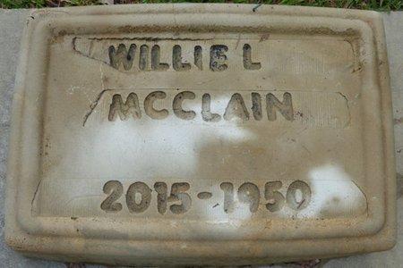 MCCLAIN, WILLIE L - Montgomery County, Alabama | WILLIE L MCCLAIN - Alabama Gravestone Photos
