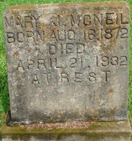 MCNEIL, MARY J - Montgomery County, Alabama | MARY J MCNEIL - Alabama Gravestone Photos