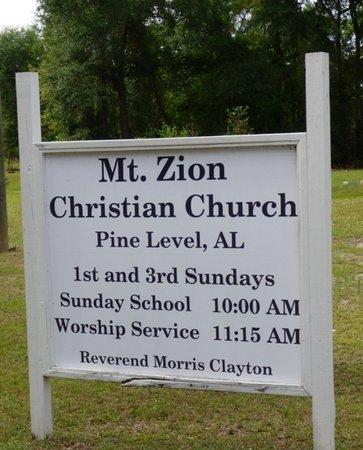 *MT. ZION A.M.E. CHURCH, SIGN - Montgomery County, Alabama   SIGN *MT. ZION A.M.E. CHURCH - Alabama Gravestone Photos