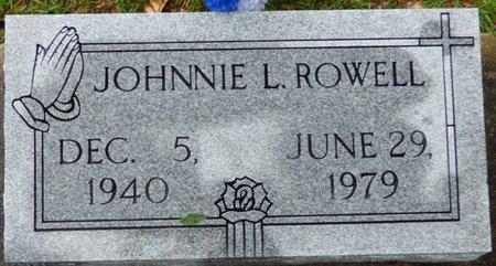 ROWELL, JOHNNIE L - Montgomery County, Alabama | JOHNNIE L ROWELL - Alabama Gravestone Photos