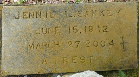 SANKEY, JENNIE L - Montgomery County, Alabama | JENNIE L SANKEY - Alabama Gravestone Photos