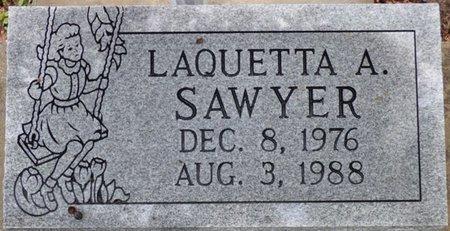 SAWYER, LAQUETTA A - Montgomery County, Alabama   LAQUETTA A SAWYER - Alabama Gravestone Photos