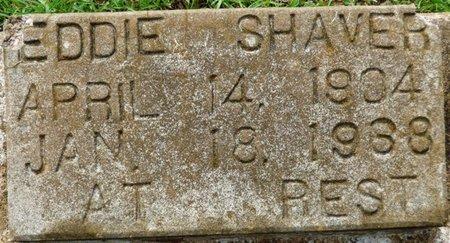 SHAVER, EDDIE - Montgomery County, Alabama   EDDIE SHAVER - Alabama Gravestone Photos