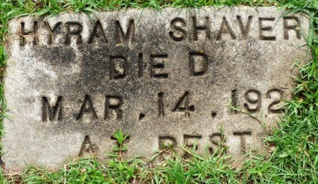 SHAVER, HYRAM - Montgomery County, Alabama | HYRAM SHAVER - Alabama Gravestone Photos