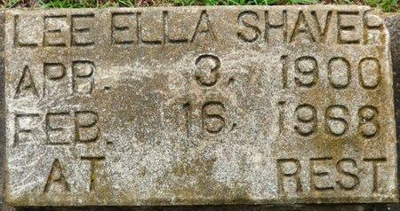 SHAVER, LEE ELLA - Montgomery County, Alabama | LEE ELLA SHAVER - Alabama Gravestone Photos